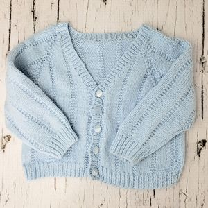 Other - ❄ 3/$20 Handmade Baby Blue Knit Cardigan